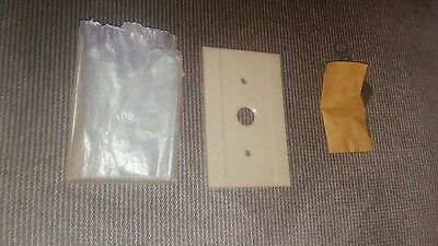 New Vintage Ribbed Ivory Bakelite Push Button Light Switch Plate Covers