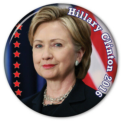 """Hillary Clinton Presidential Campaign 3"""" Pinback Button Vote For President 2016"""