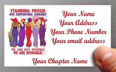(#4) 50 Calling / Business Cards Personalized For Red Hat Ladies Of Society