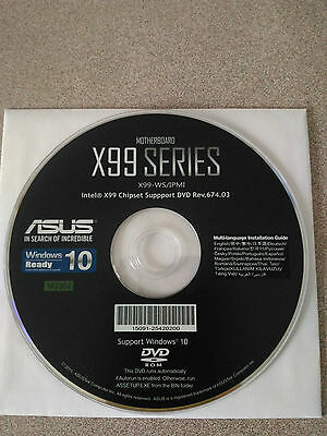"""""""NEW"""" ASUS X99-WS/IPMI Motherboard Drivers Installation DVD"""