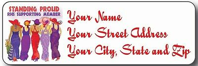 (#4) 90 Stand Proud Address Label Personalized For Red Hat Ladies Of Society