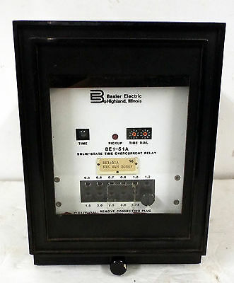 1 Used Basler Electric Be1-51A Solid-State Time Overcurrent Relay K1E W4M B0N0F