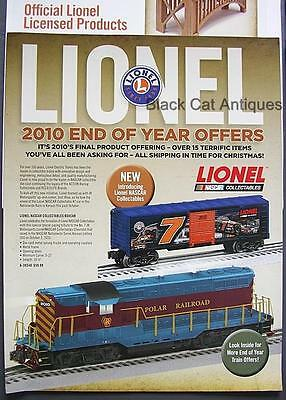 2010 Lionel Model Trains/Accessories End Of Year Brochure/Order & Sell Sheets
