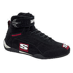 Simpson Safety Size 8 Black High-Top Adrenaline Driving Shoes Part Ad800Bk