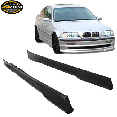 Fits Side Skirt Bodykit 2Pcs For 99-04 BMW E46 4Dr 330I 320I H-Style Urethane