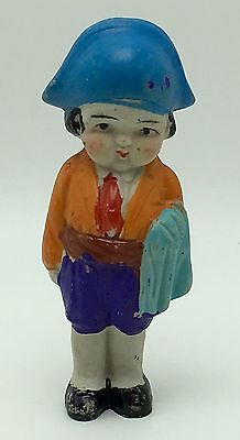 Vintage Japan Frozen Charlotte Bisque Doll, Bull Fighter Matador Torero