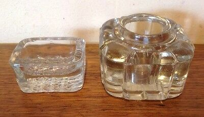 Vintage Glass Ink Wells