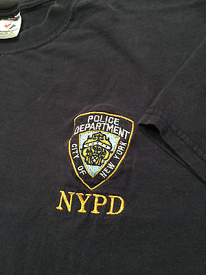 NYPD VINTAGE Embroidered T Shirt