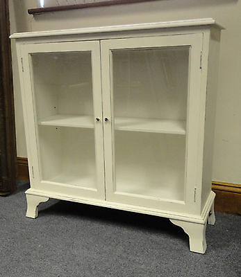 Lovely Vintage Small Annie Sloane Painted Shabby Chic Bookcase Cabinet