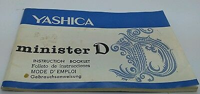 Yashica Minister D Instruction Manual 50p