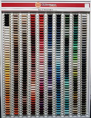 Gutermann Sew All Thread 100% Polyester 100m Hand & Machine Sewing 200 shades 1*