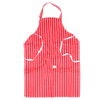 100% Cotton Red Stripe Chef Buthers Apron With Waist Ties
