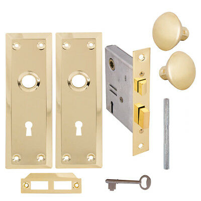 Keyed Brass Plated Inside Mortise Lock