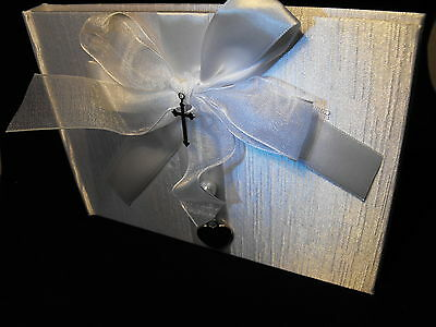 CHRISTENING DAY GUEST BOOK boy or girl christening party guest book PARTY BOOK