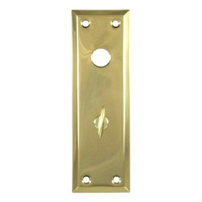 "2-1/4"" X 7"" Escutcheon Plate w/ Knob Hole And Thumb Turner"
