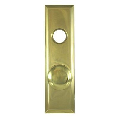 "2-3/4"" X 10"" Solid Brass Escutcheon Plate w/ Knob And Cylinder Hole"