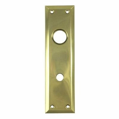 "2-3/4"" X 10"" Solid Brass Escutcheon Plate w/ Knob Hole And Cylinder Hole"