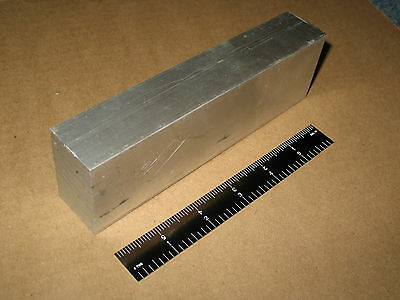 "1.25""x 2"" ALUMINUM FLAT BAR STOCK 6.5"" LONG  6061 T6511 MADE IN USA SQUARE ROD"