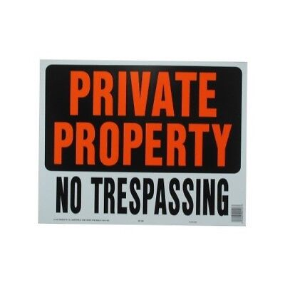 "14-1/2"" X 18-1/2"" Jumbo ""Private Property"" Plastic Sign"