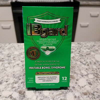 IBgard Dietary Management Irritable Bowel Syndrome 12 Capsules IBS Constipation