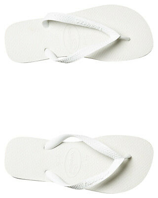 New Havaianas Men's Top Thong Rubber White