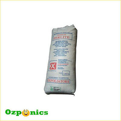 5x HYDROPONICS GROW MEDIUM PERLITE BAG 100 LITRE GROWING MEDIA
