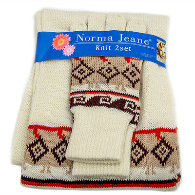 Fashion women winter accessories high-woven acrylic scarf&gloves sets for womens