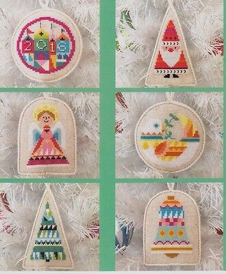Ornament Set 1 -  fun cross stitch chart - Satsuma Street