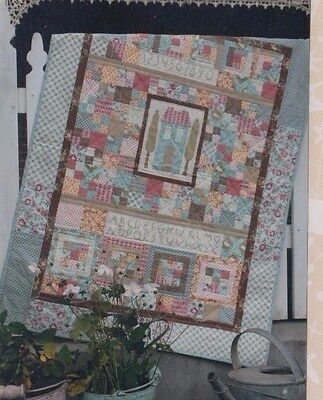 The Home Patch - fun pieced & applique quilt PATTERN - Hatched & Patched