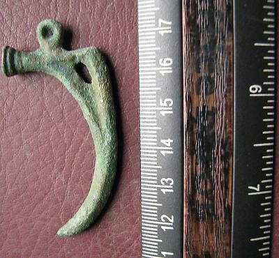 Ancient Lake Ladoga VIKING Artifact   Bronze Claw Necklace Pendant  AA 10