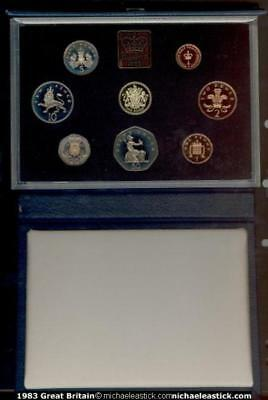 1983 Great Britain Proof Coin Set inc box & certificate