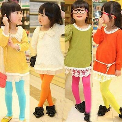 Halloween Kid Baby Girl Solid Strecth Slim Leggings Pants Socks Dance Stocking