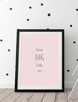 Dream Nursery Print Art Poster Pink Baby Girl Decor Girls Room Posters Prints