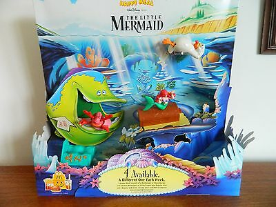 Mcdonalds Toy Happy Meal Display Diorama Complete 'little Mermaid' Toys 1998