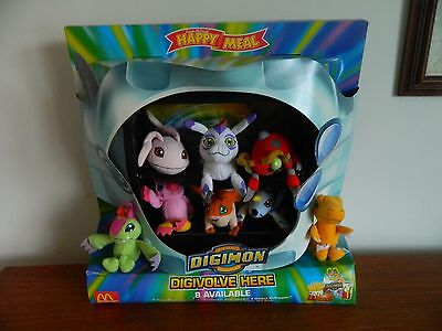 Mcdonalds Toy Happy Meal Display Diorama Complete 'digimon'  2001, 8 Toys