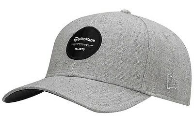 NEW TaylorMade New Era 39 Thirty Crest Heather Grey Fitted L/XL Hat/Cap