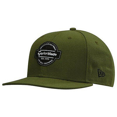 NEW TaylorMade Era 9 Fifty Flux Olive Green Adjustable Snapback Hat/Cap