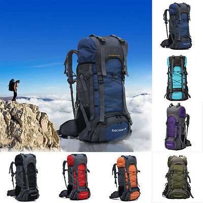 70L Outdoor Hike Camping Military Rucksack Backpack Tactical Travel Large Bag