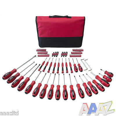 106pc Screwdriver And Bit Set Kit & Storage Case Torx Phillips Slotted Pozi Hex