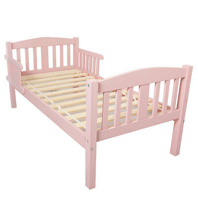 New Girls Pink Toddlers Junior Beds Solid Pine Traditional Wooden Kids