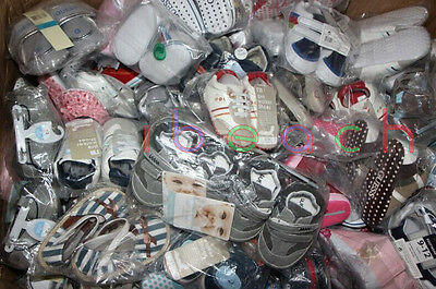 Wholesale Infant Baby Boy Girl First Pram Shoes Job Lots Newborn to 18 Months