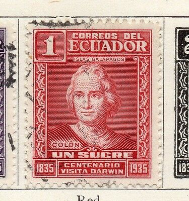 Ecuador 1936 Early Issue Fine Used 1S. 090417