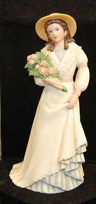 Homco Home Interior Porcelain Lady Figurine 1468 Charlotte Rose
