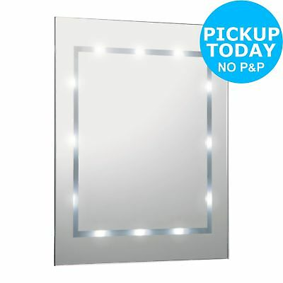 HOME Bathroom LED Mirror Light. Battery Operated -From Argos on ebay
