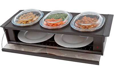 Hostess H0392BR Buffet Server with 3 Heat Resistant Dishes - Brown - From Argos