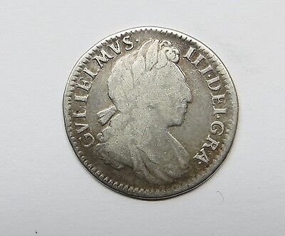 1702 William 111  Maundy Silver 4 Pence