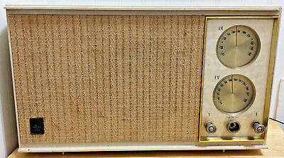 Vintage General Electric Tube Radio AS IS GE Model T-246A AM/FM Plastic & Cloth