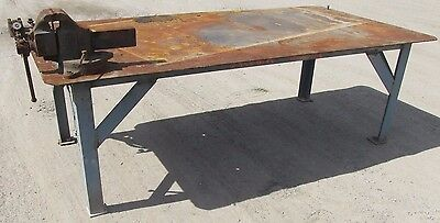 "Steel Work Bench Welding Table Vise 4' x 8' x 32"" 2456 WVS"
