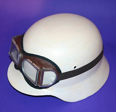 1940 Steampunk Motorcycle Aviator Goggles Vintage Antique Unusual Divided Glass