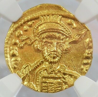 668- 685 Ad Gold Byzantine Empire Constantine Iv Av Solidus Ngc Choice About Unc